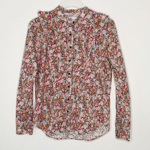 The SHIRT Rochelle Behrens Floral Ruffle Shirt